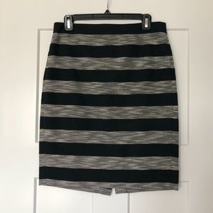 J. Crew striped pencil skirt